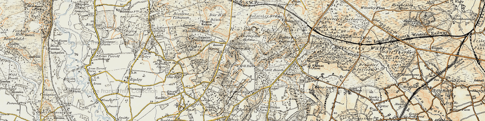 Old map of Whitten Bottom in 1897-1909