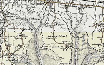 Old map of Wickor Point in 1897-1899