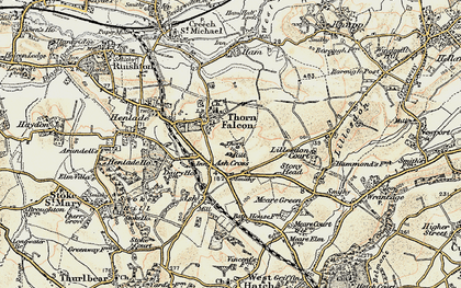 Old map of Ash Cross in 1898-1900