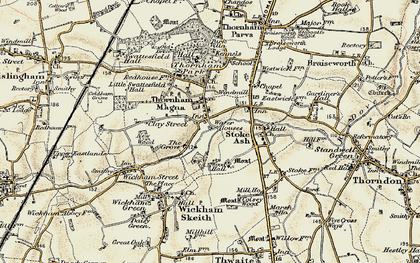 Old map of Wood Hall in 1901