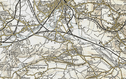 Old map of Thornhill Lees in 1903