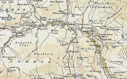 Old map of Ashgill Side in 1903-1904