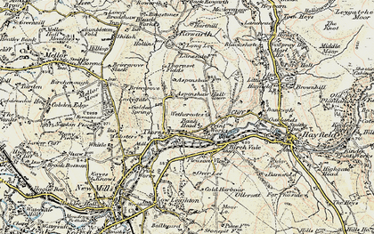Old map of Wethercotes in 1903
