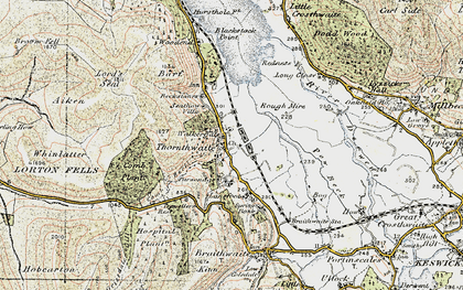 Old map of Whinlatter Forest Park in 1901-1904