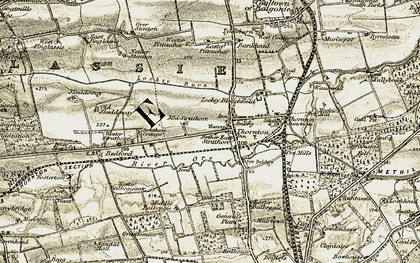 Old map of Wester Balbeggie in 1903-1908
