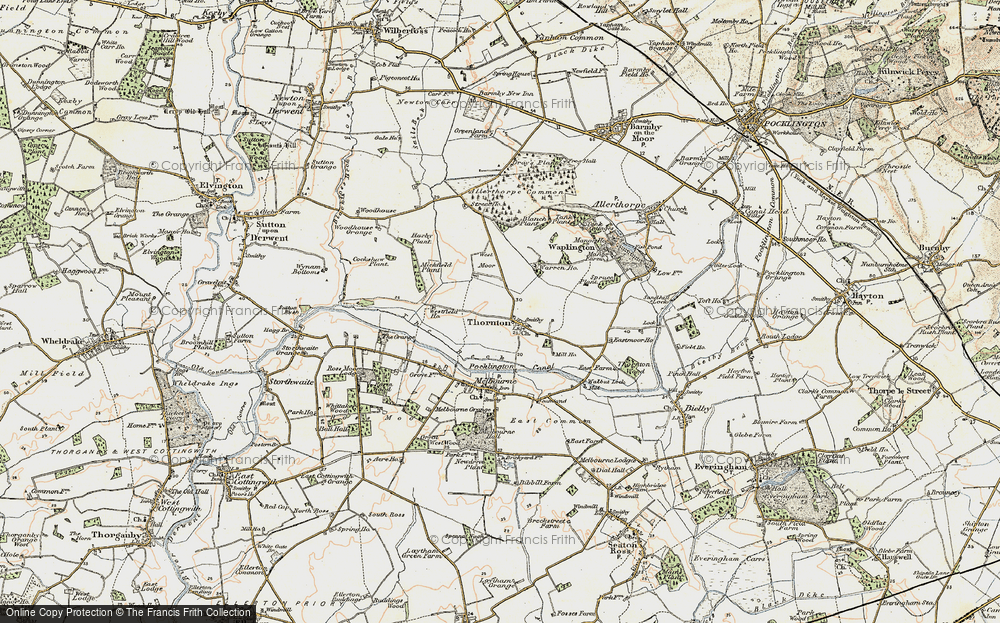 Old Map of Historic Map covering Allerthorpe Common in 1903