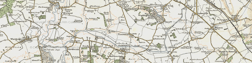 Old map of Allerthorpe Common in 1903