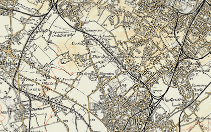 Old map of Thornton Heath in 1897-1902