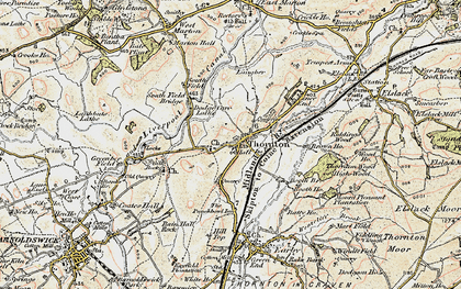 Old map of Thornton-in-Craven in 1903-1904