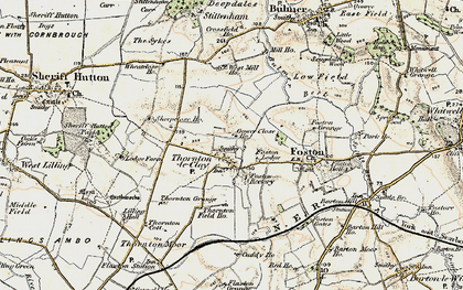 Old map of Lilling Hall in 1903-1904
