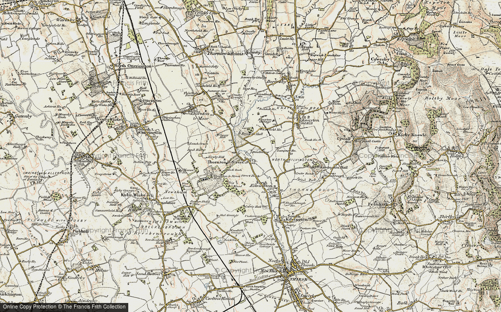 Old Map of Historic Map covering Leachfield Grange in 1903-1904