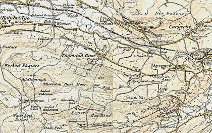 Old map of Aysgarth Moor in 1903-1904