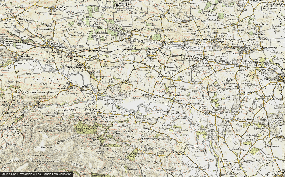 Old Map of Historic Map covering Woodhouse in 1904