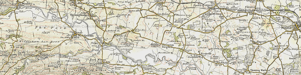 Old map of Woodhouse in 1904