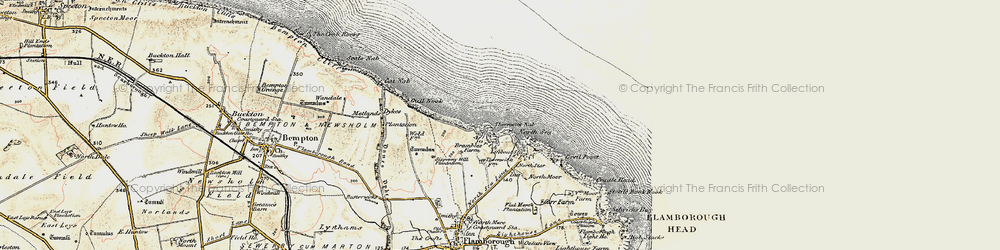 Old map of Thornwick Bay in 1903-1904