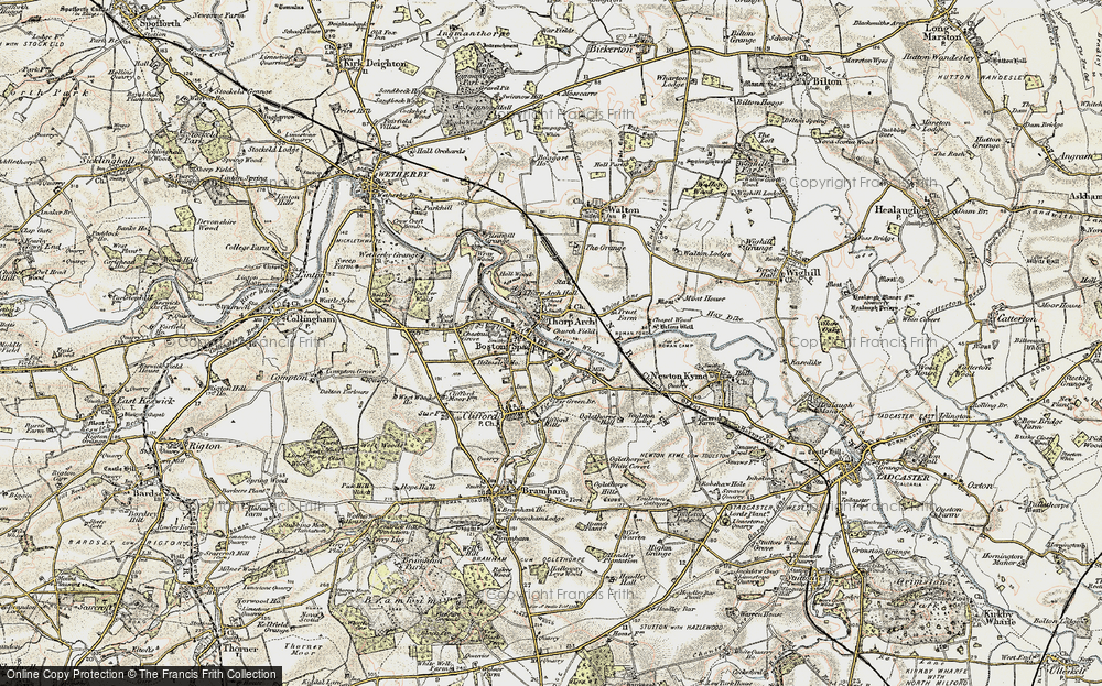 Old Map of Thorp Arch, 1903-1904 in 1903-1904