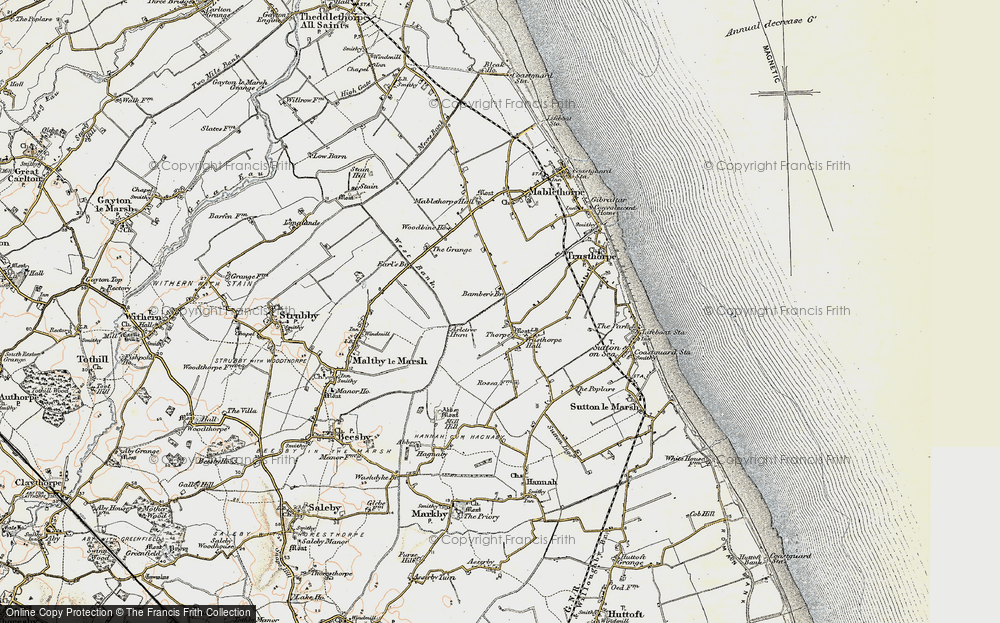 Old Map of Historic Map covering Axletree Hurn in 1902-1903