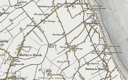 Old map of Axletree Hurn in 1902-1903