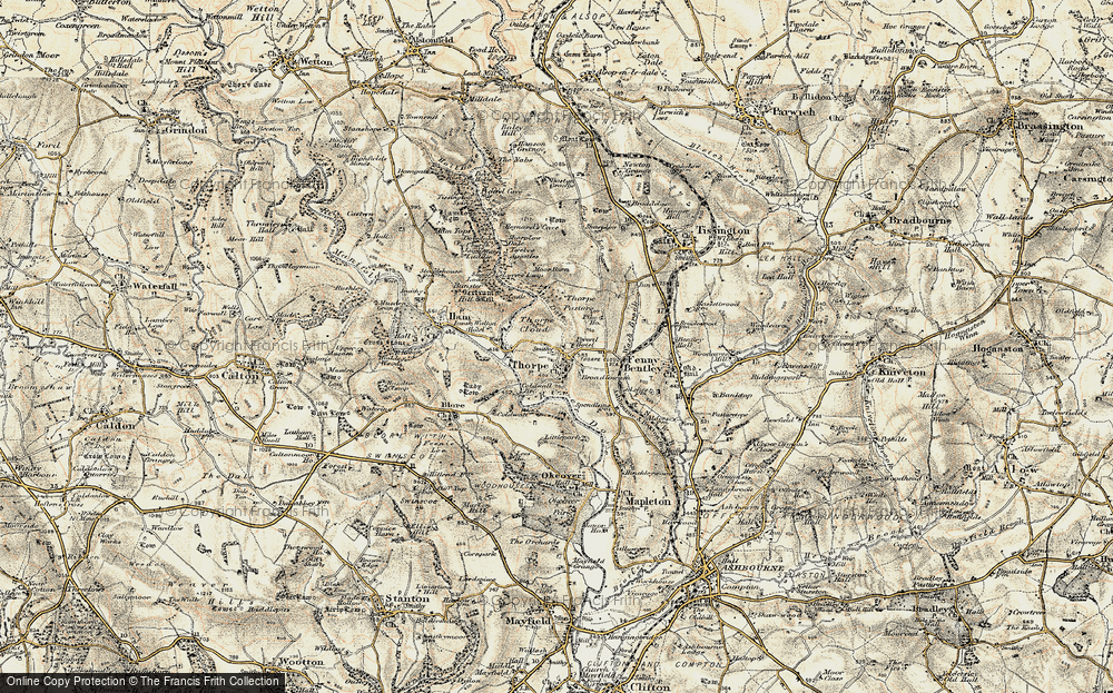 Old Map of Thorpe, 1902 in 1902