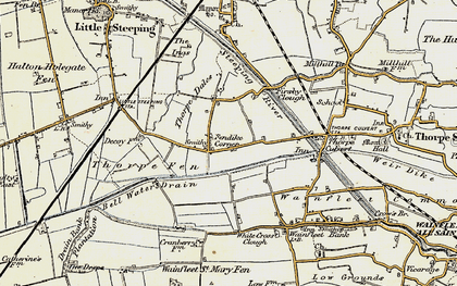 Old map of White Cross Clough in 1901-1903