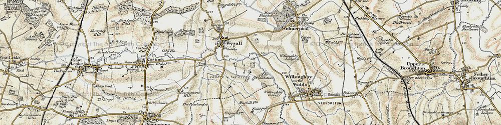 Old map of Windyridge in 1902-1903