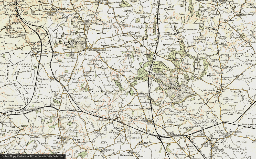 Old Map of Historic Map covering Layton Ho in 1903-1904