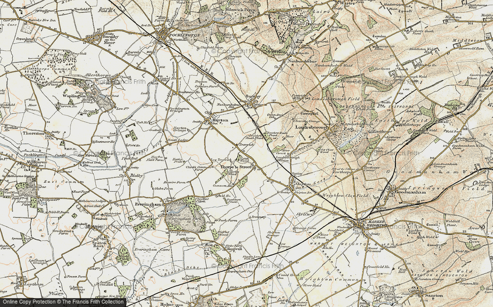 Old Map of Historic Map covering Leak Wood in 1903