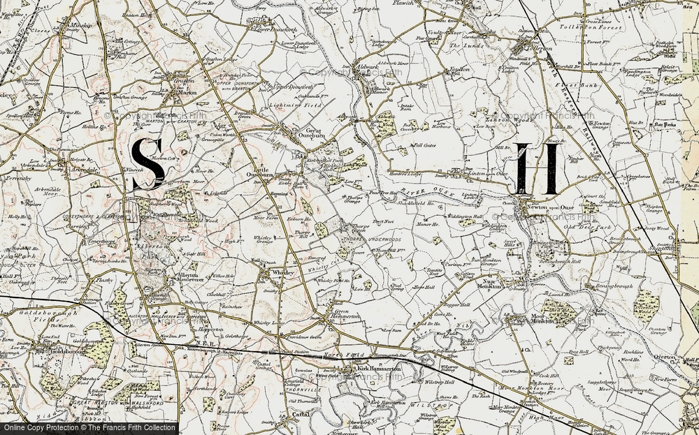 Old Map of Thorpe Underwood, 1903-1904 in 1903-1904