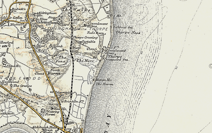 Old map of Thorpeness in 1898-1901