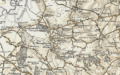 Old map of Tinkwood in 1902