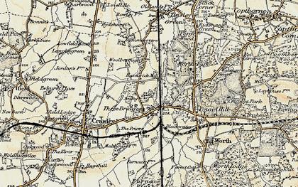 Old map of Three Bridges in 1898-1909