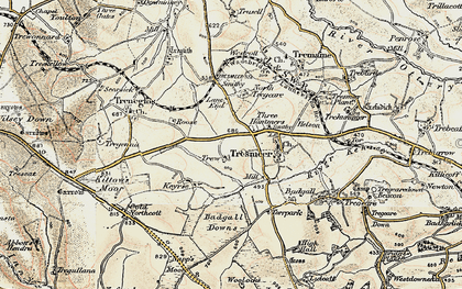 Old map of Three Hammers in 1900