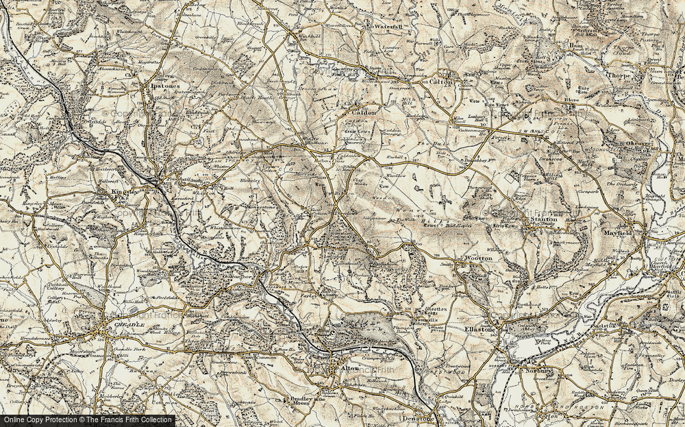 Old Map of Historic Map covering Lickshead in 1902