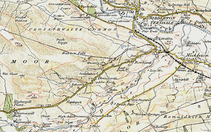 Old map of Wythes Hill in 1903-1904