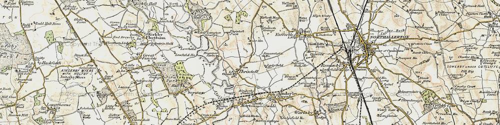 Old map of Yafforth Grange in 1903-1904