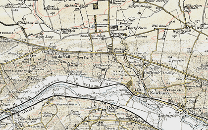 Old map of Throckley in 1901-1903