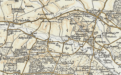 Old map of Throop in 1899-1909