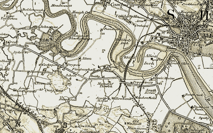 Old map of Willowbank in 1904-1907