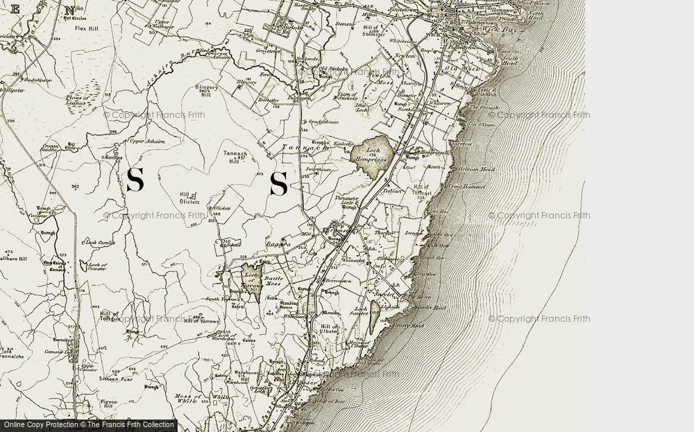 Old Map of Historic Map covering Toftcarl in 1912
