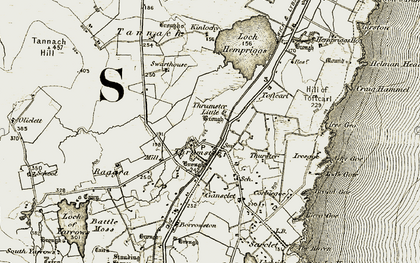 Old map of Toftcarl in 1912