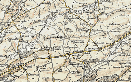 Old map of Wheatley in 1900