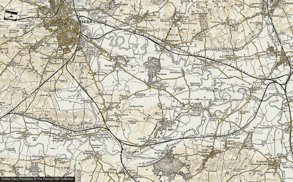 Old Map of Historic Map covering Thurlestone Grange in 1902-1903