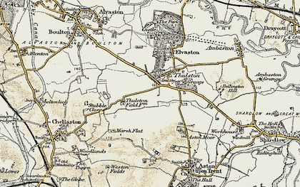 Old map of Thurlestone Grange in 1902-1903