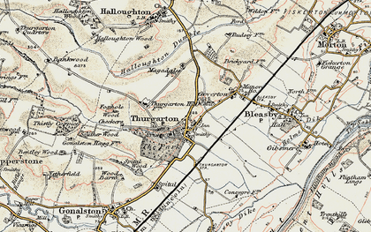 Old map of Thurgarton in 1902