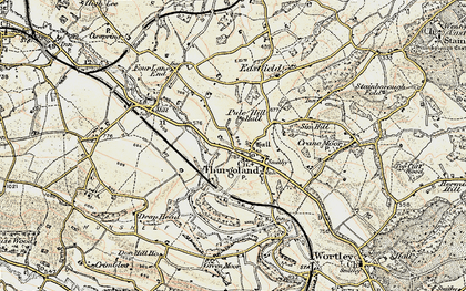 Old map of Thurgoland in 1903
