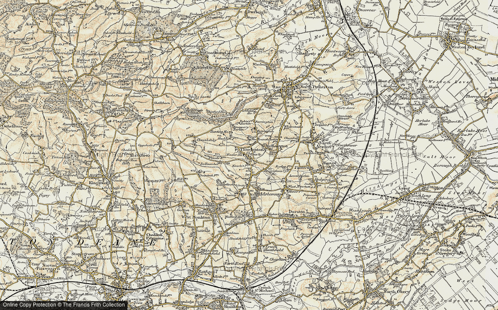 Old Map of Thurloxton, 1898-1900 in 1898-1900