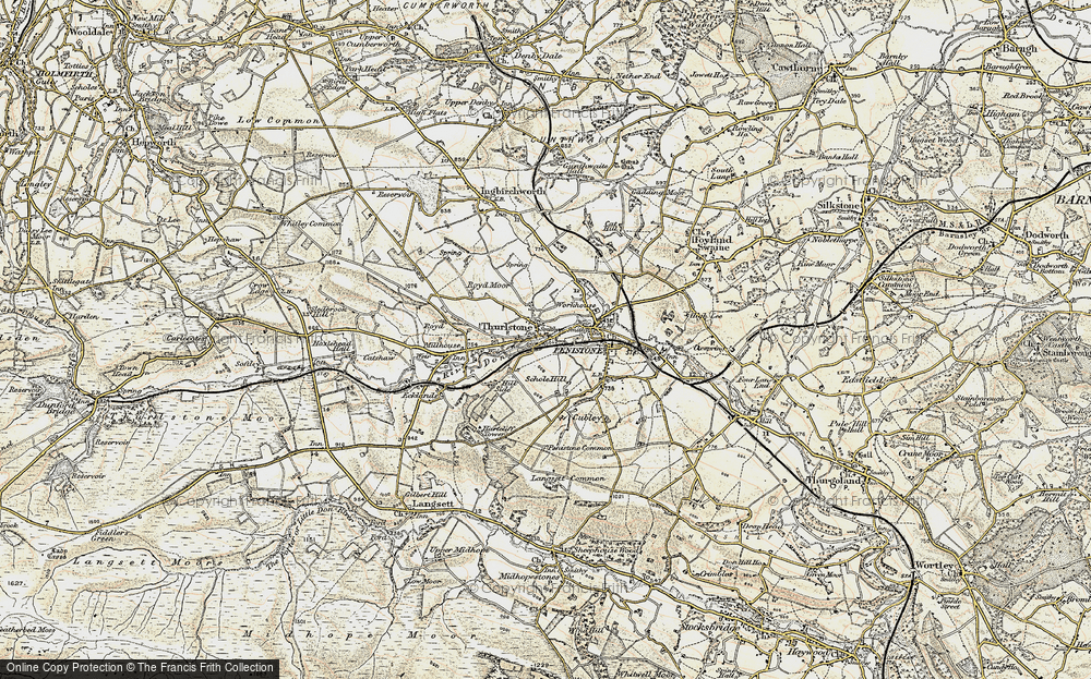 Old Map of Thurlstone, 1903 in 1903