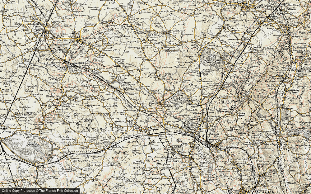 Old Map of Thurlwood, 1902-1903 in 1902-1903