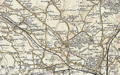 Old map of Thurlwood in 1902-1903