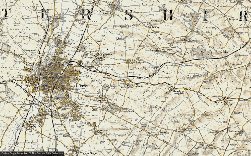 Old Map of Thurnby, 1901-1903 in 1901-1903